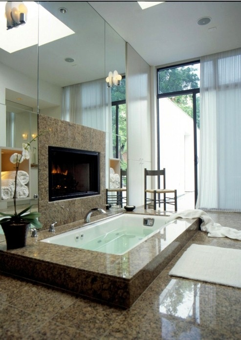 40 Spectacular Stone Bathroom Design Ideas: 51 Spectacular Bathrooms With Fireplaces