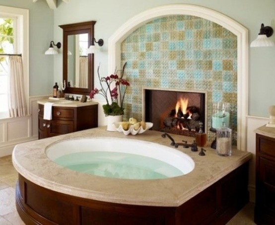 Delicieux Spectacular Bathrooms With Fireplaces