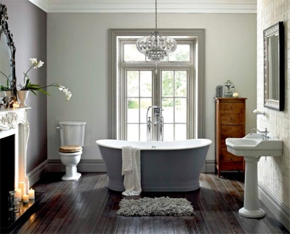51 spectacular bathrooms with fireplaces digsdigs for Bathrooms with fireplaces
