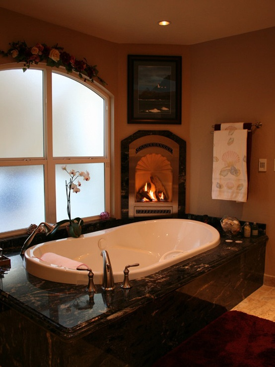 Charmant Spectacular Bathrooms With Fireplaces