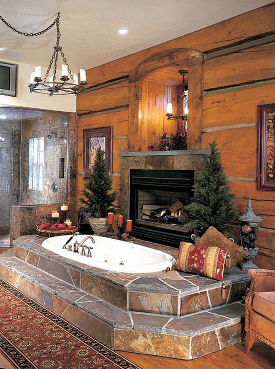 Good Spectacular Bathrooms With Fireplaces Part 10