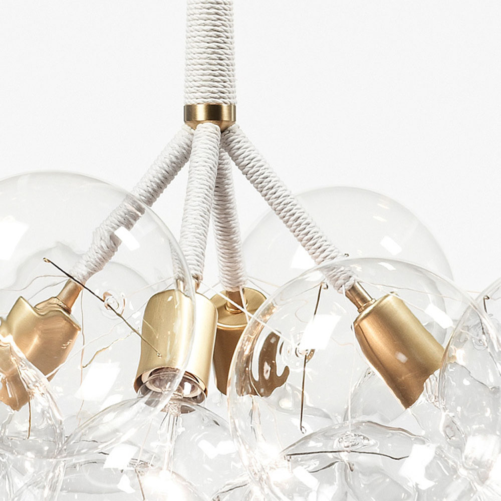 Spectacular x large bubble chandelier to make a statement digsdigs - Building a chandelier ...