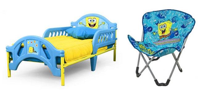 bedding with cartoon characters bedroom themes boys theme cool kids - Spongebob Bedroom Set