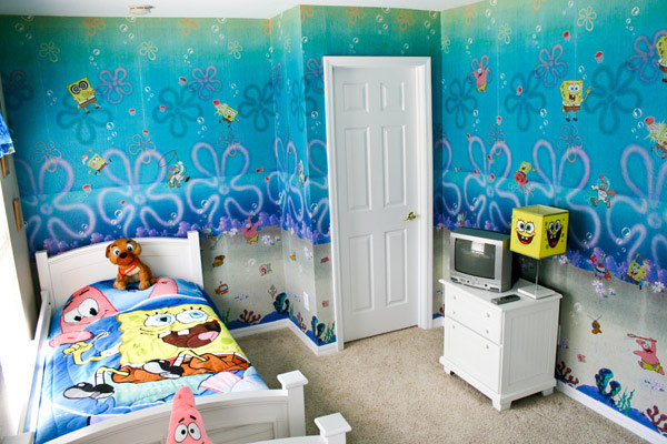 SpongeBob SquarePants Themed Room Design Home Decorating Ideas
