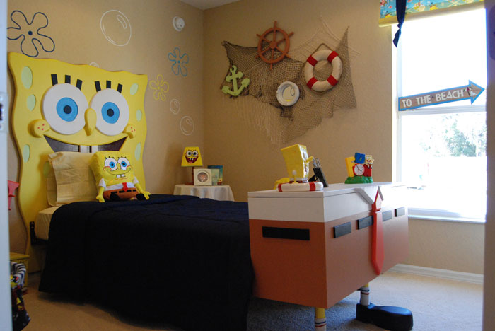 Spongebob squarepants themed room design digsdigs Funny bedroom
