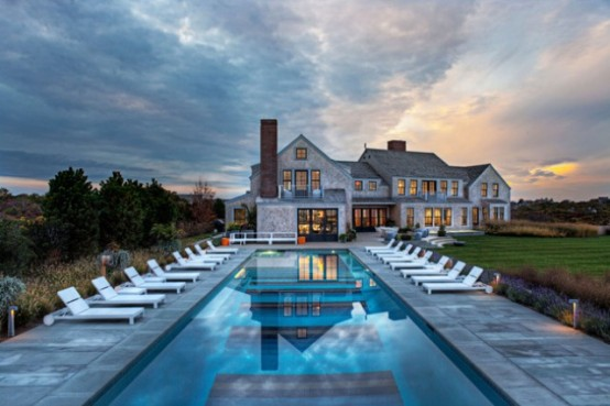 Squam Residence Traditional Exterior And Modern Colorful Interior