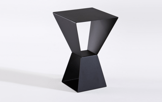 Modern Trapezoidal Side Table To Use As A Display Stand