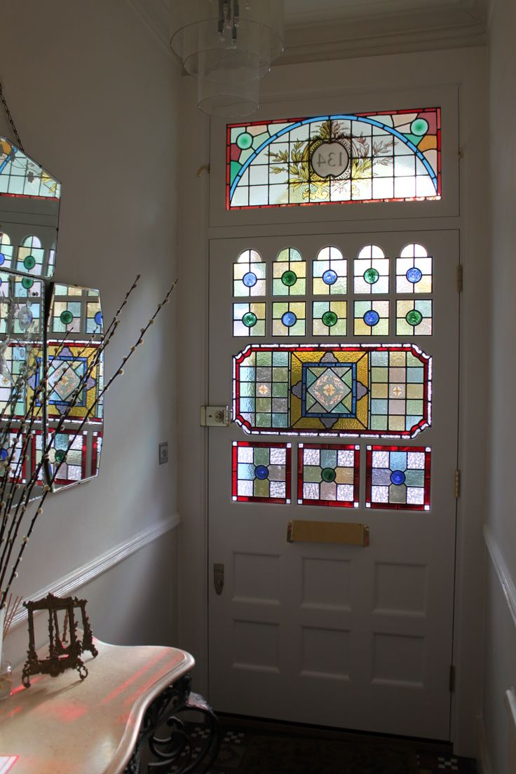 Craftsman Home Front Door Stained Glass Windows
