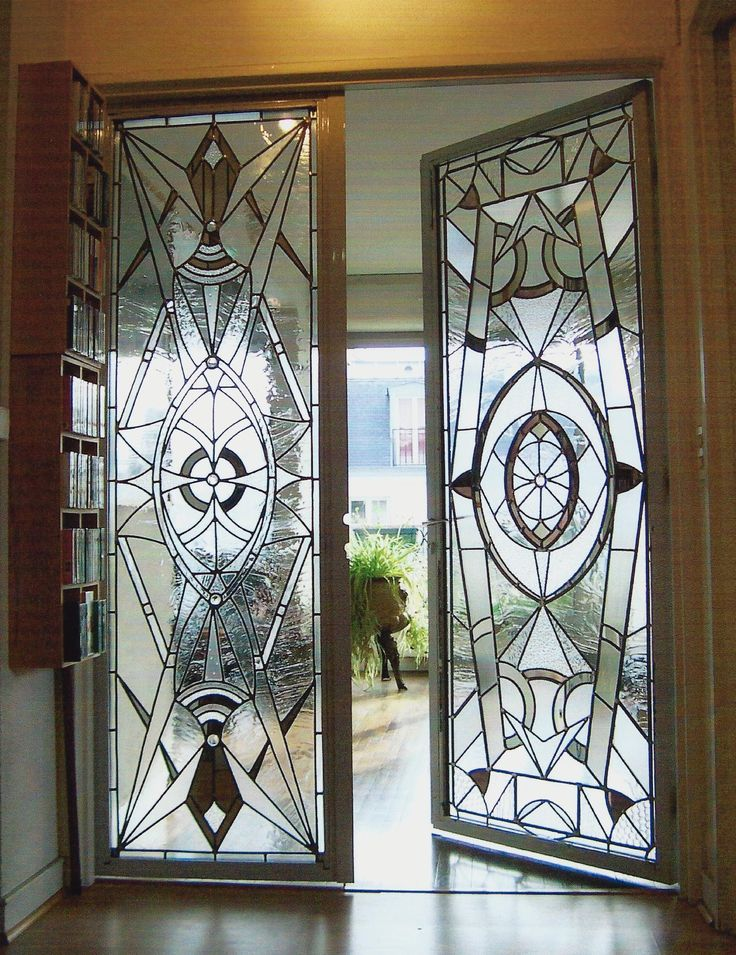 Leaded Glass Doors : Advertisement