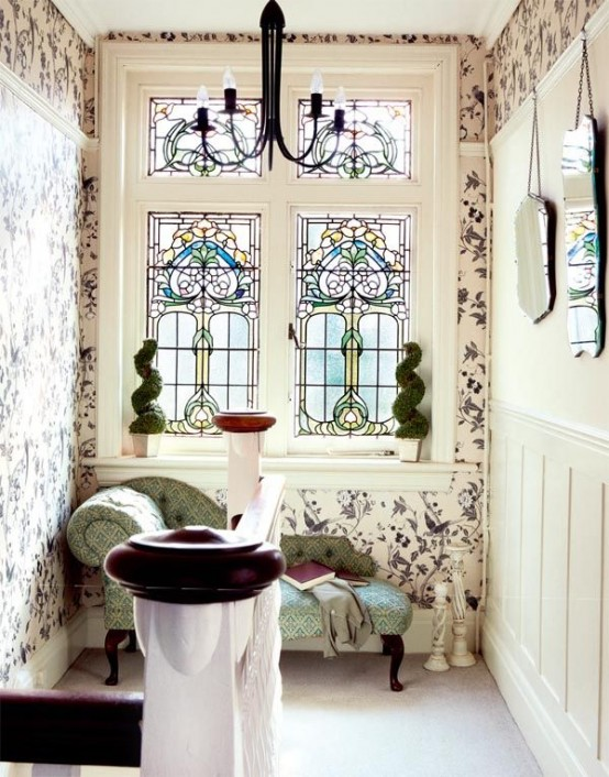 English Country House Dining Room: 25 Stained Glass Ideas For Indoor And Outdoor Home Decor