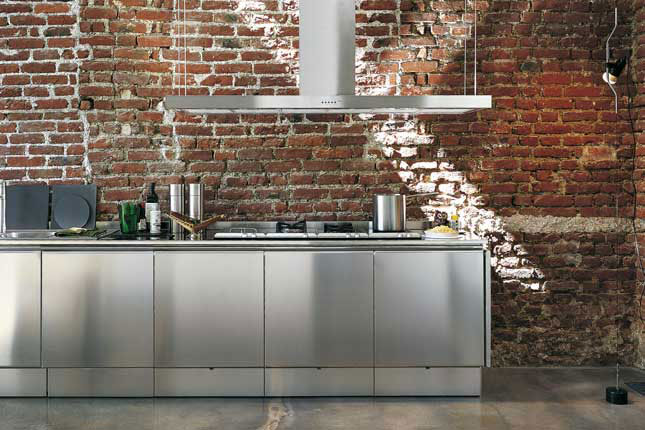 Stainless Steel Kitchen Design stainless steel kitchen cabinets - e5 from elam - digsdigs