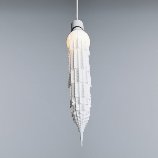 Stalaclights Collection: 3D Printed Skyscraper Bulb Shades