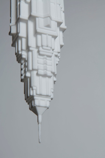 Stalaclights Collection 3d Printed Skyscraper Bulb Shades