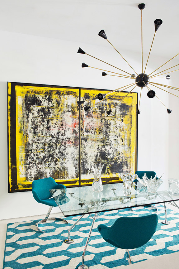 Picture Of stand out modern home in a mix of bold colors  1