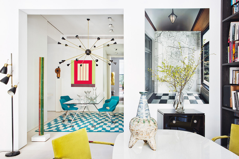 Picture Of stand out modern home in a mix of bold colors  2
