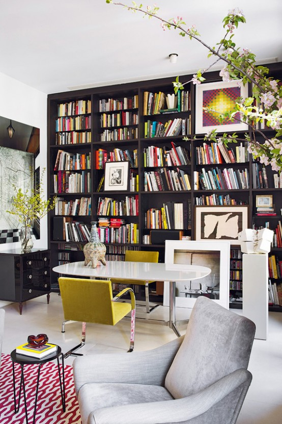 Stand Out Modern Home In A Mix Of Bold Colors Digsdigs