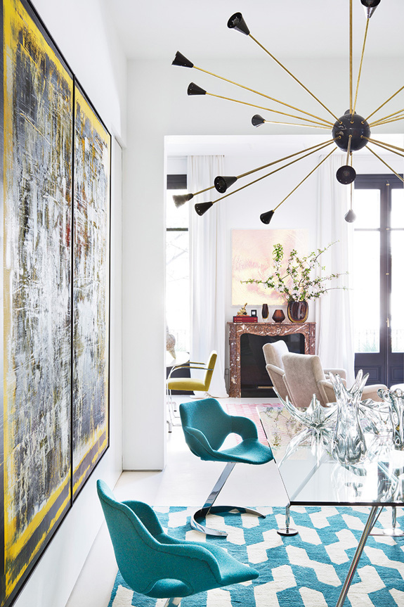 Picture Of stand out modern home in a mix of bold colors  4