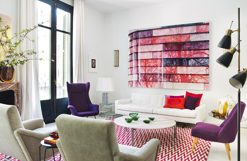 Picture Of stand out modern home in a mix of bold colors  5