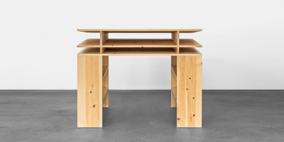 Standing Writing Desk With Lots Of Storage Space DigsDigs