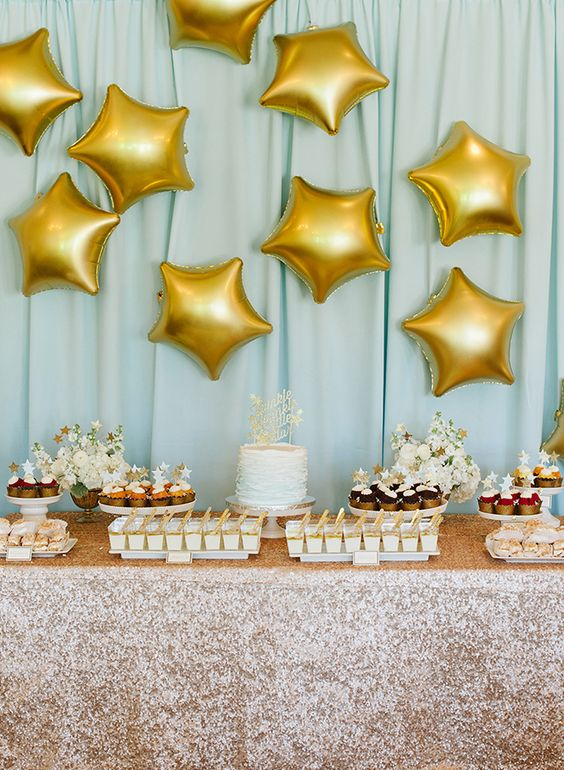 star-themed modern baby shower