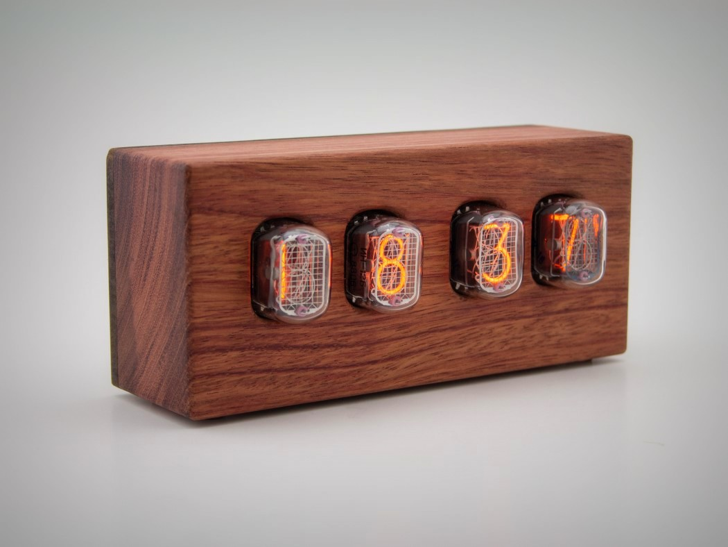 Picture Of steampunk nixie clock that requires little power  7
