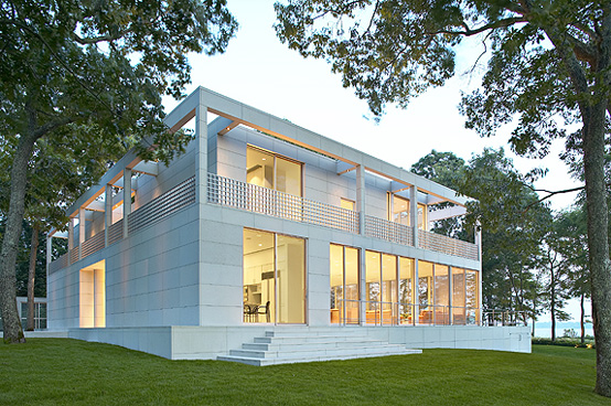 Georgica Pond House From Steel Aluminum And Glass