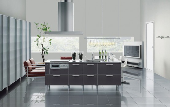 Steel Colored Kitchen Design by TayoKitchen