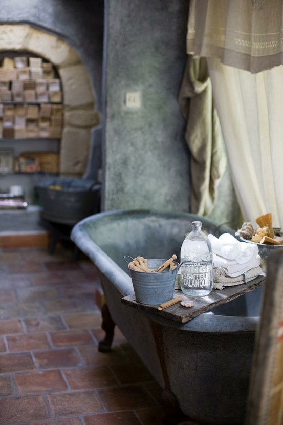 35 Amazing Raw Stone Bathroom Design Ideas - DigsDigs