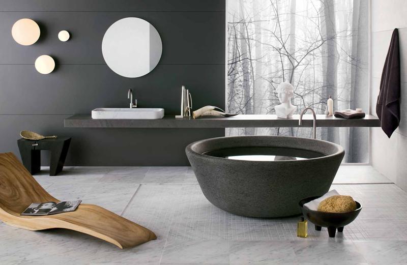 4 Gorgeous Stone Bathtubs by Neutra