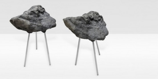 Stone Foam Stool Looking Hard And Being Soft