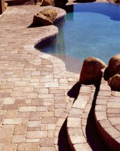 Stone Pool Desk Design