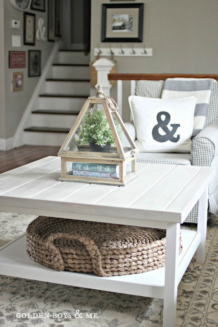 a two top coffee table with a basket tray is great for storage   use both tops