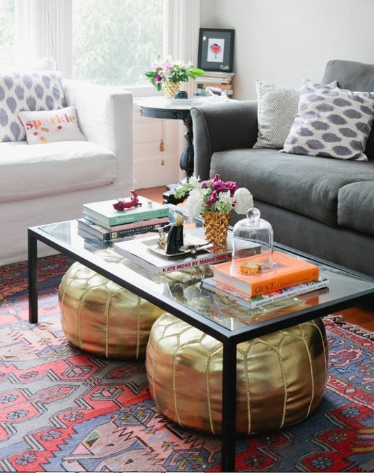 Storage Space Under The Coffee Table Ideas