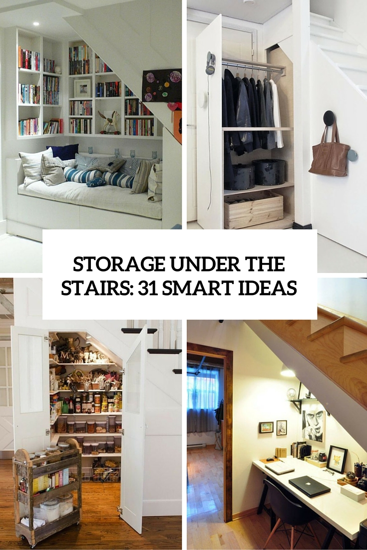 Lighting Basement Washroom Stairs: Storage Under The Stairs: 31 Smart Ideas