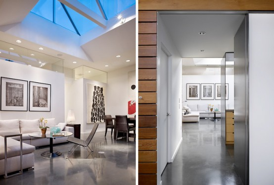 Storefront Remodelled Into Live Work Place With Modern Interior Design