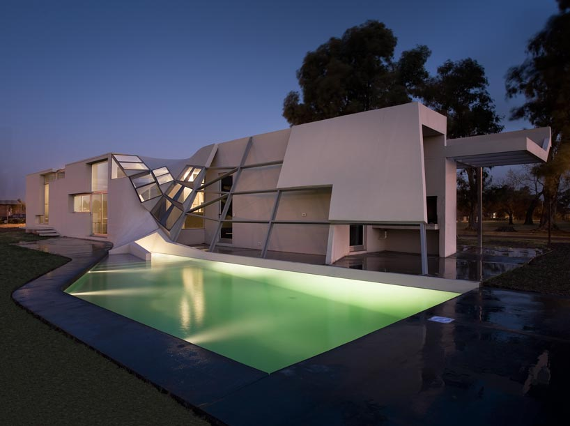 Very strange and unusual house design fyf residence by p Modern architecture home for sale