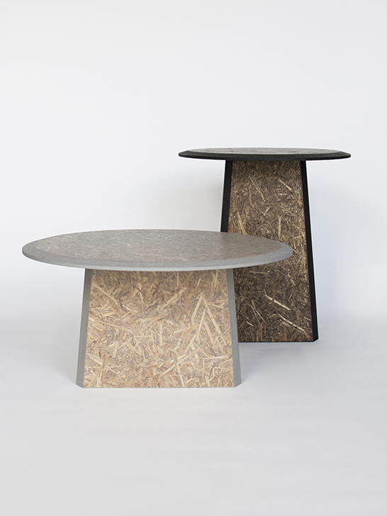 Straw Side Tables Of Biodegradable Material