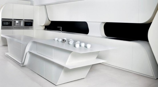 Striking Futuristic Kitchen By A-Cero