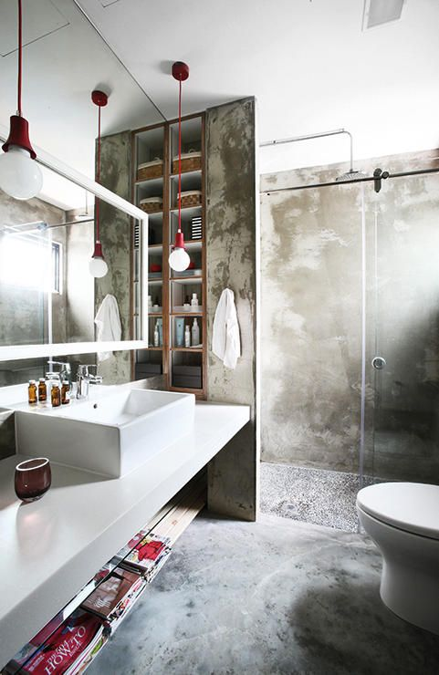 25 industrial bathroom designs with vintage or minimalist chic digsdigs - Decoratie design toilet ...
