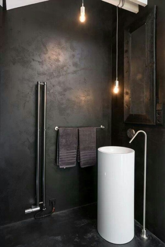 Elegant Striking Industrial Bathroom Designs