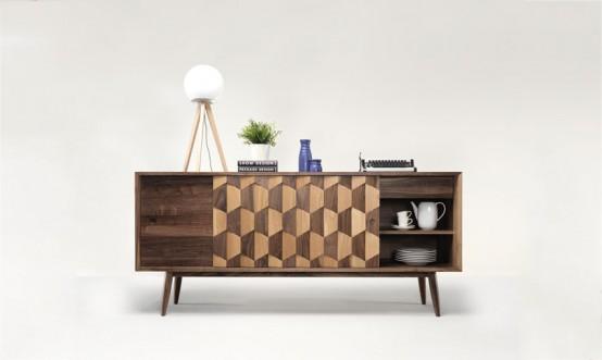 Etonnant Striking Two Toned Wooden Furniture Pieces