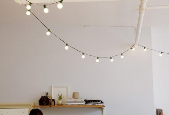 String Lights Indoor Bedroom : 28 String Lights Ideas For Your Holiday D?cor DigsDigs
