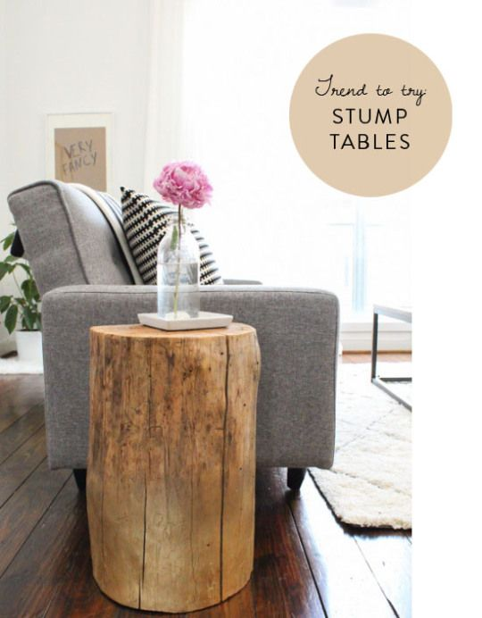 Stump Decor Pieces For Natural Home Decor