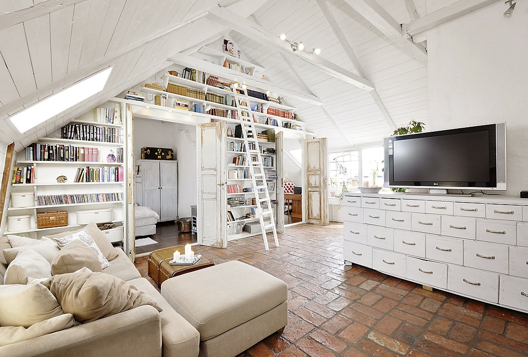 Stunning attic apartment in modern and shabby chic styles digsdigs