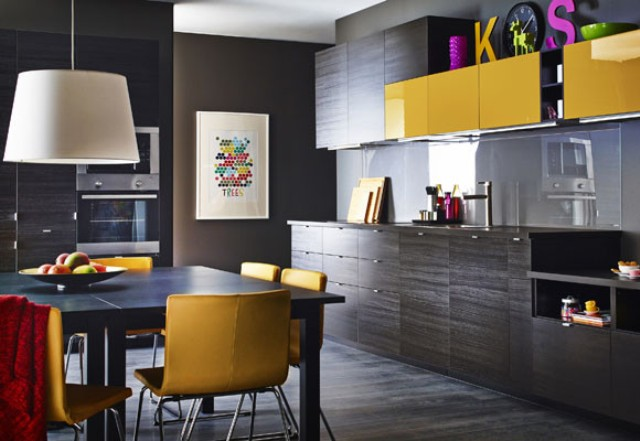 Http Www Digsdigs Com Stunning Black Kitchen Design With Yellow Touches