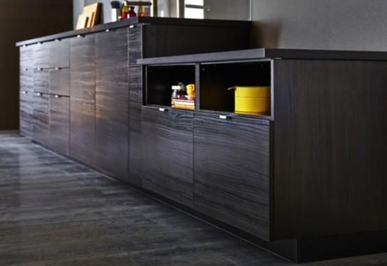 Stunning Black Kitchen Design With Yellow Touches