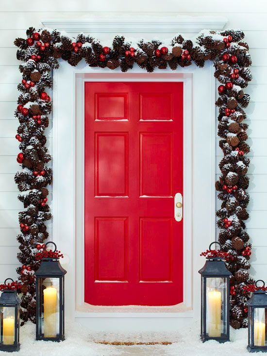 Decorating Ideas > 38 Stunning Christmas Front Door Décor Ideas  DigsDigs ~ 060215_Christmas Decorations Ideas For Front Doors