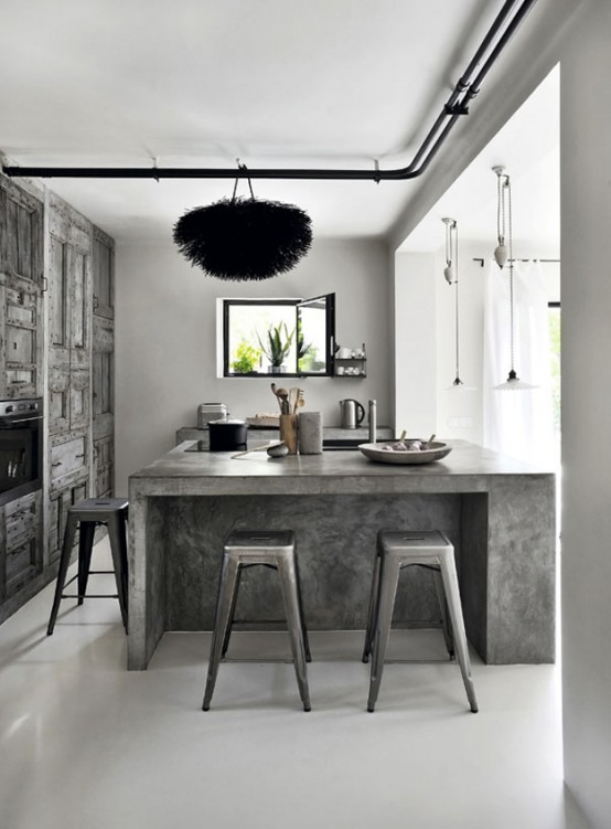Stunning Grey And White House With Cool Art Touches