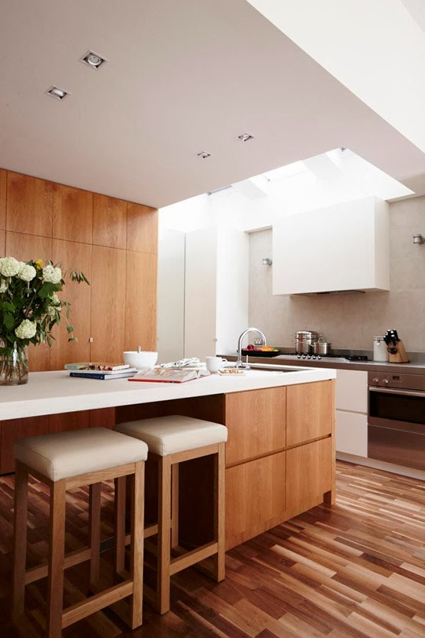 Stunning Modern Kitchen With No Windows But Full Of Light