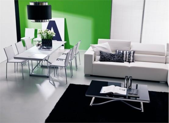 Stylish And Adjustable Coffee Table Romeo By Bontempi Casa
